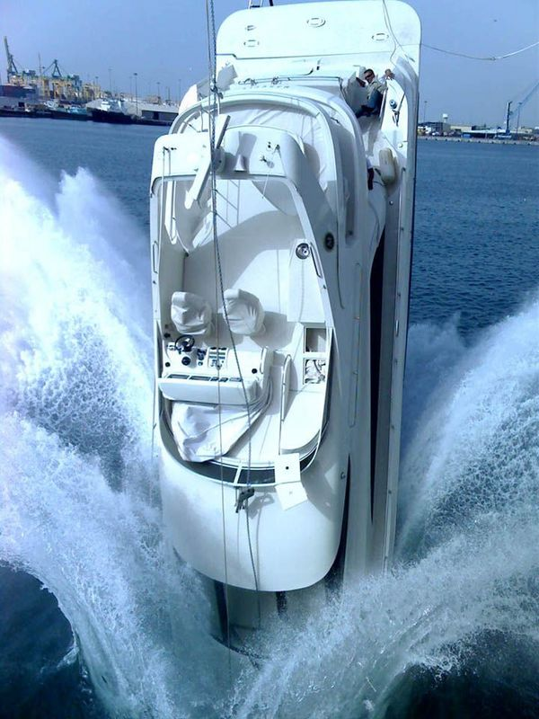 Splash the new boat!