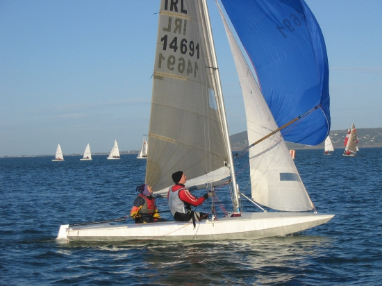 Louise and Grattan Fireball dinghy